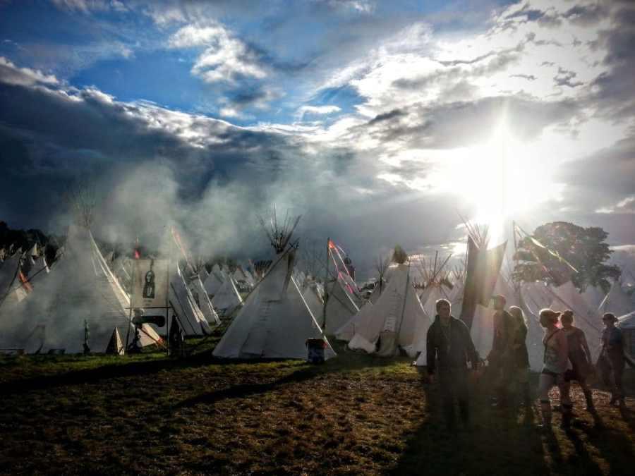 Tipis Glastonbury Festival 2014