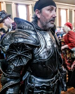 John Mason at the Faery Ball in Armour by Vicki Steward
