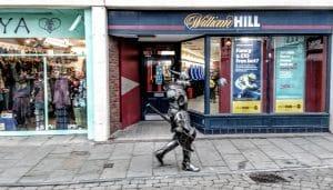 Knight in Armour in Glastonbury High St by Vicki Steward