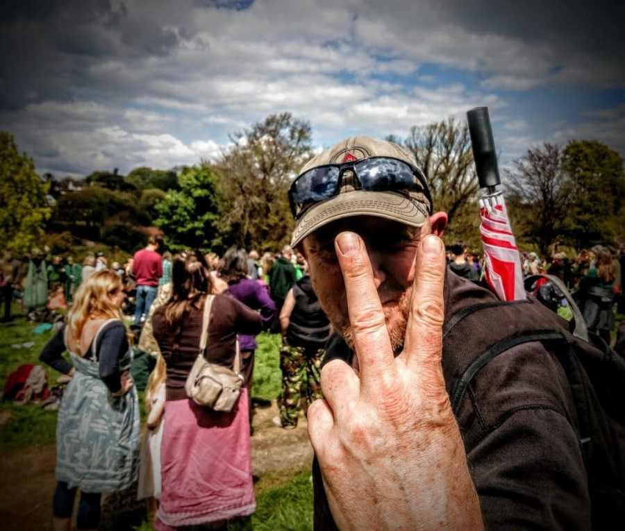 Pete, May Day 2017, Bushy Coombe, Glastonbury