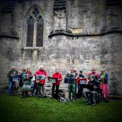 The Ukes of Avalon in Glastonbury Abbey. Beltane 2017