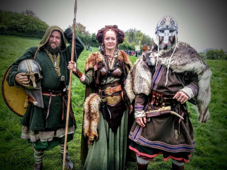 Glastonbury Vikings at the Dragons Beltane Celebration