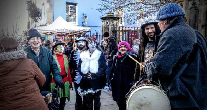 Frost Fayre revellers