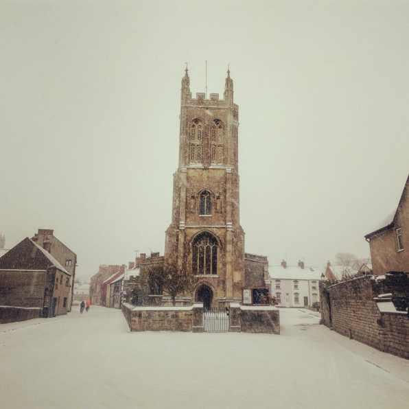 Snow in Glastonbury 2018