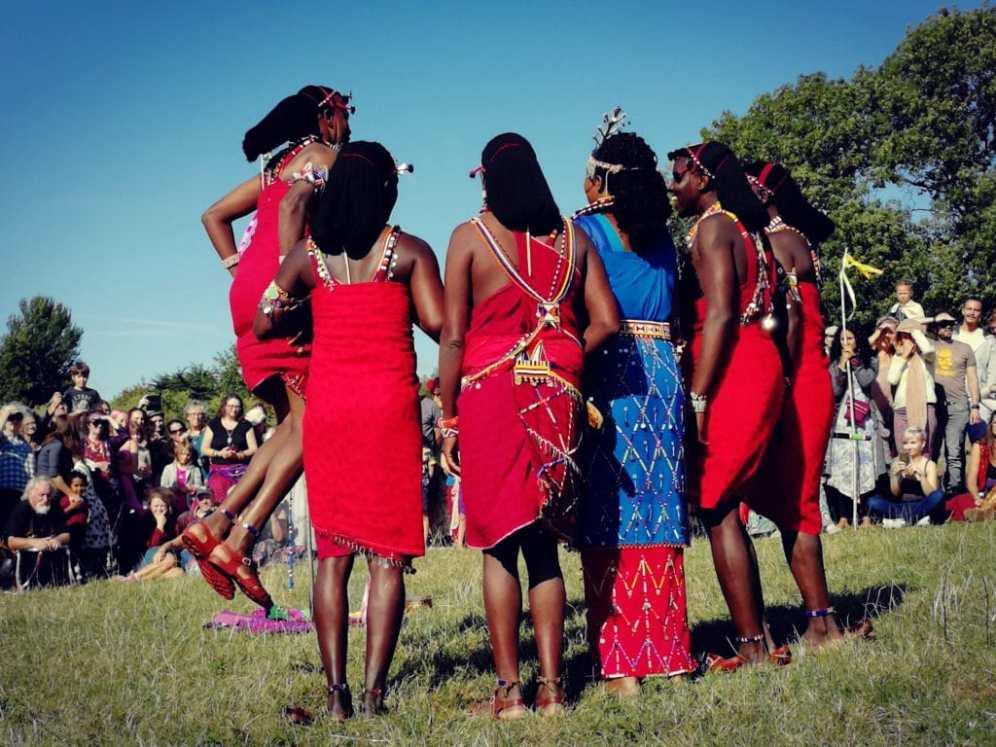 Osiligi Maasai Warriors at Glastonbury Tor
