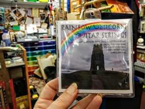 Rainbow Unicorn Guitar Strings at Sonus Magus Music Shop, Glastonbury Town