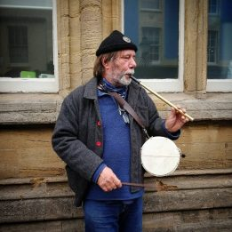 Pipe and Drum at the Busk Stop