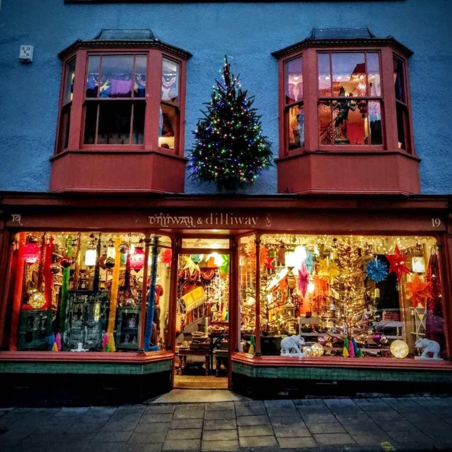 Glastonbury Town Christmas Window 2018