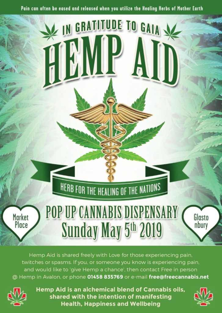 The Hemp Aid event that Free Cannabis hosts in Glastonbury