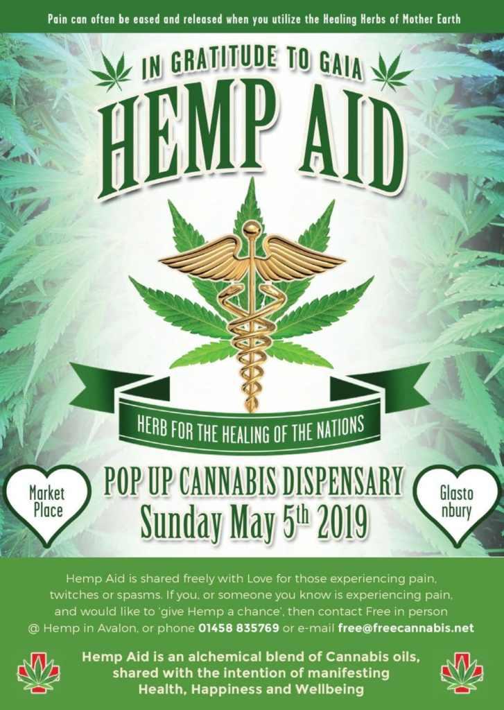 The Hemp Aid event that Free Cannabis hosts in Glastonbury