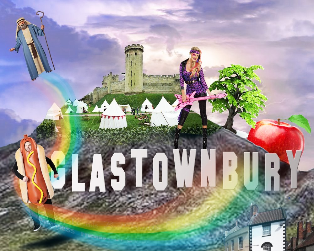 Glastonbury Town montage by Andy Brady