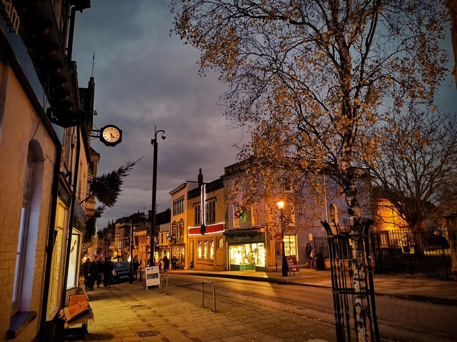High Street Glastonbury December 2020