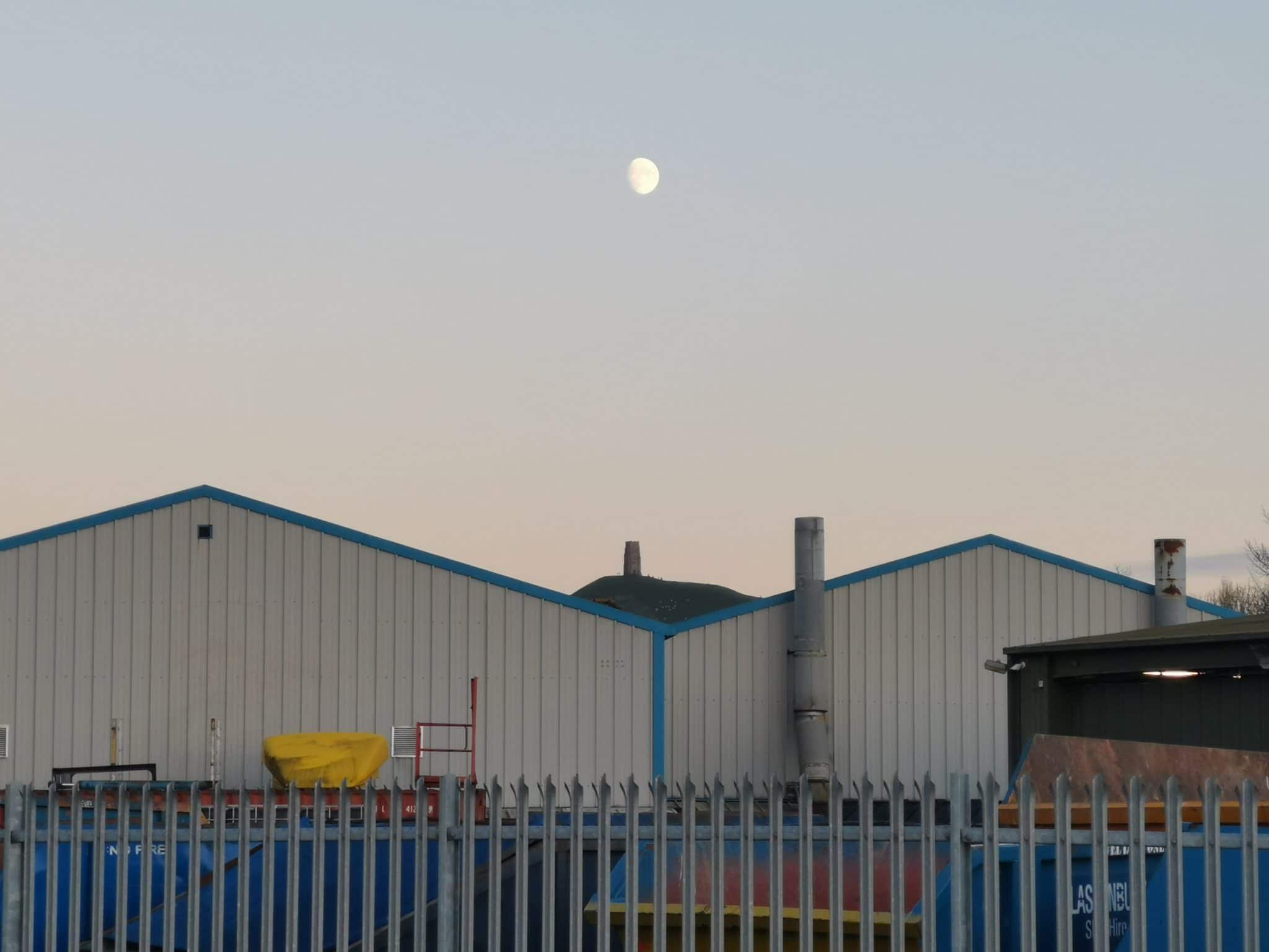 Glastonbury Tor from Industrial Estate