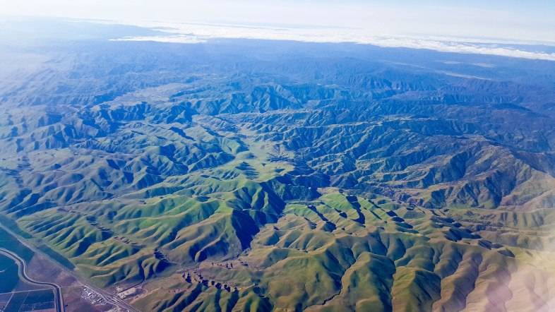 Green mountain foothills near June Lake, Califronia