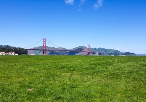 Golden Gate Bridge from Crissy Field.