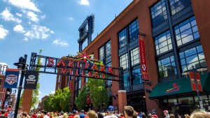 Ballpark Village outside Busch Stadium