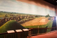 Mural depicting Cahokia at its largest