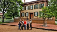 Lincoln Home, NPS Rangers and Buddy Bison