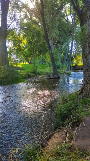 Creek through Sugar House Park