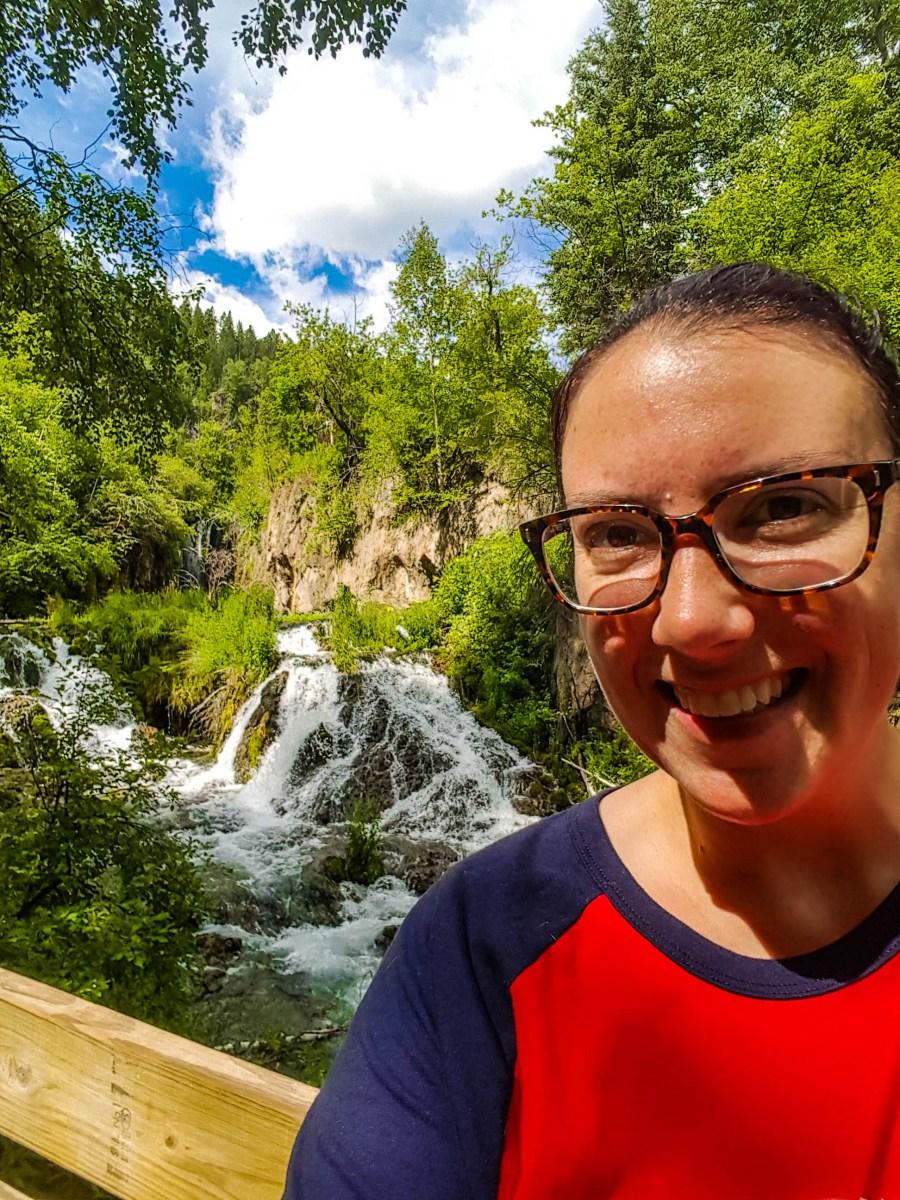 Selfie at Roughlock Falls