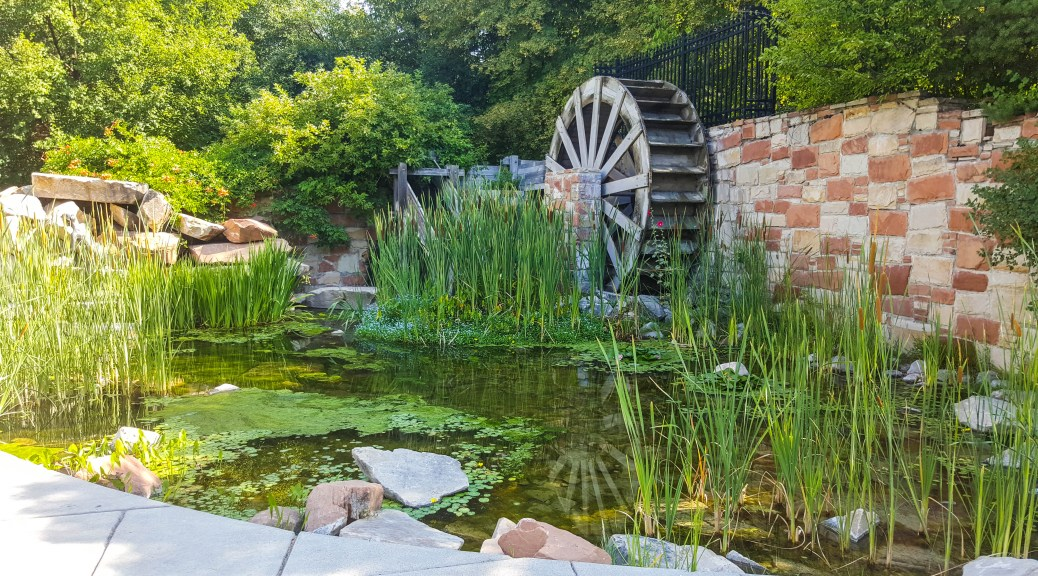 Water wheel just outside of City Creek Park
