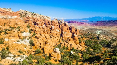 The Fiery Furnace! A region so confusing you have to have a permit and guide to enter.