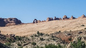 The most famous arch in the park and Utah symbol, Delicate Arch
