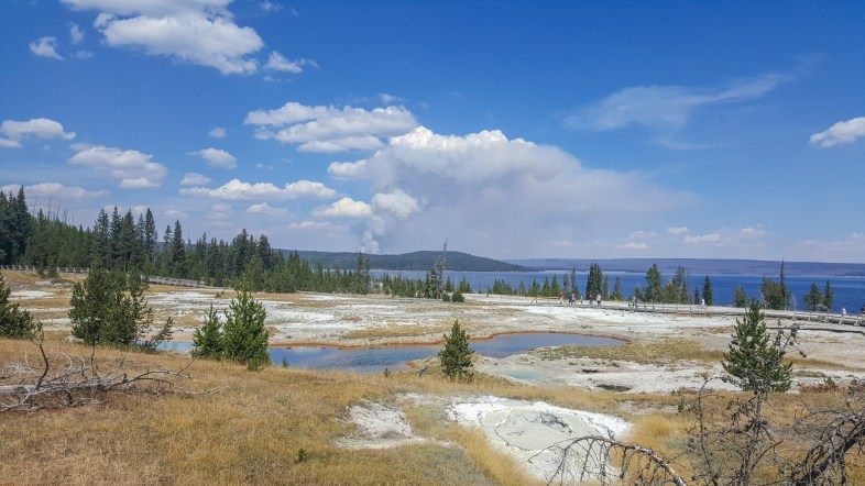 Beautiful day at Yellowstone National Park