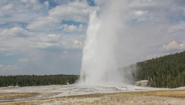 Old Faithful, doing her thing