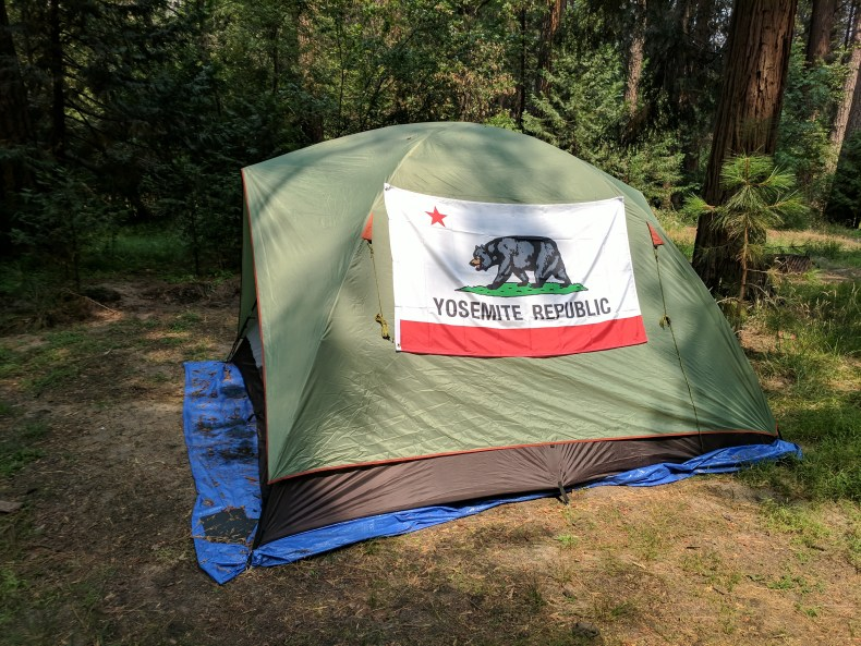 Tent living in Yosemite mimics small apartment living in New York City