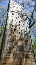 Climbing wall on the Fitness Trail