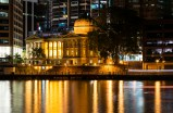 Customs House cloaked by newer buildings
