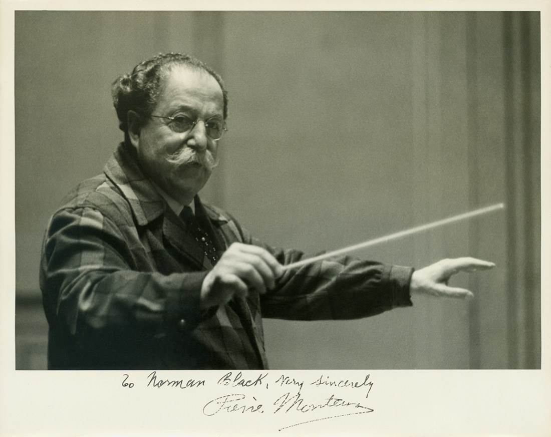 Pierre Monteux and note to Norman Black