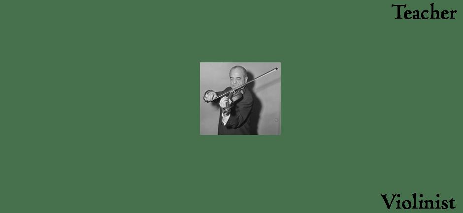 Norman as Teacher, Violinist
