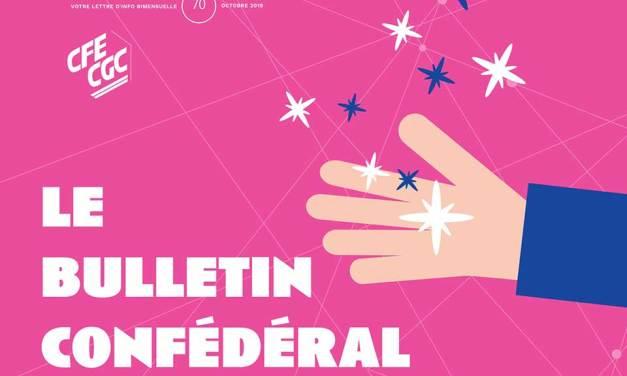 Le bulletin confédéral n°70 de la CFE-CGC