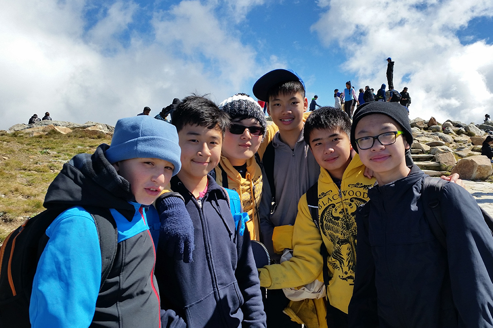A small group of students from Year 8 2016 at the Bungarra camp