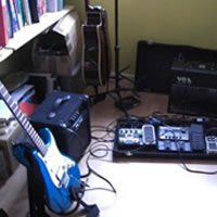 Guitar and effects pedals