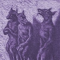 Engraving of werewolves