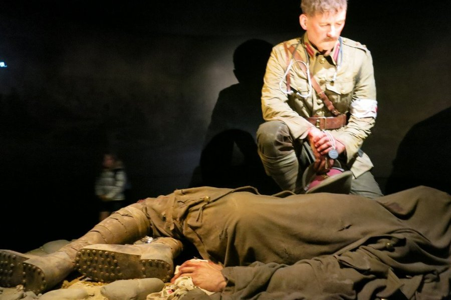 Image of soldier from Gallipoli exhibition)