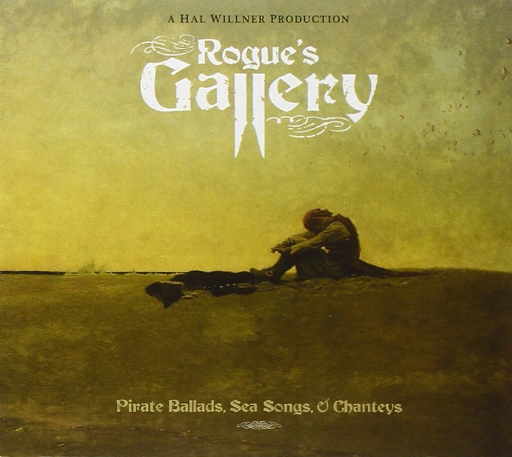 Cover of Rogue's Gallery album, a pirate abandoned on a beach.