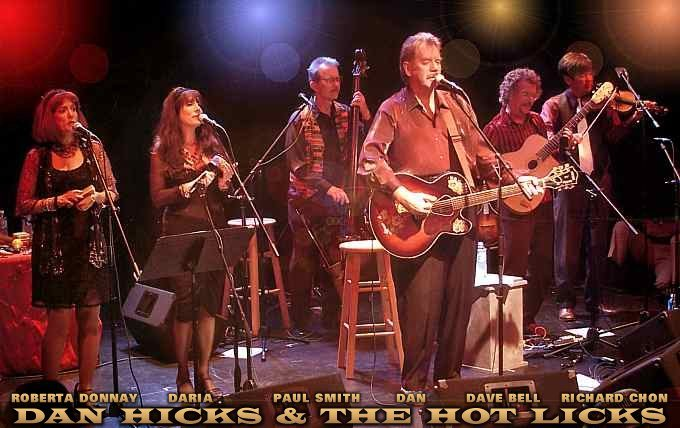 Dan HIcks and his Hot Licks on stage