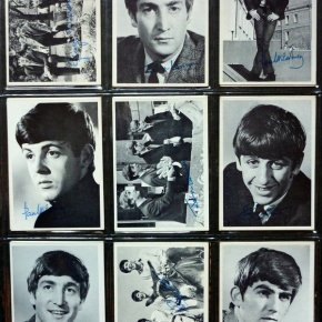 Nine Beatles bubblegum cards