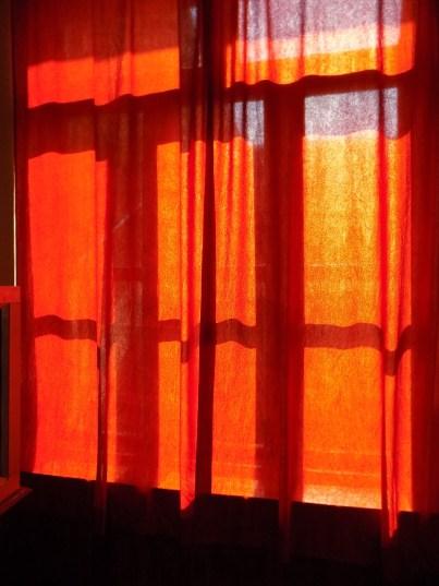 curtains in orange