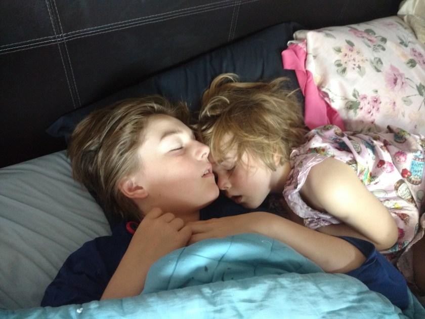 Norma Walton kids sleeping