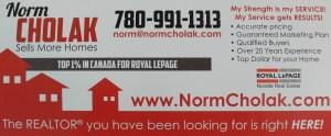 Norm Cholak Mailer Card
