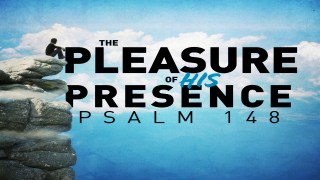 The Pleasure of His Presence Title Slide