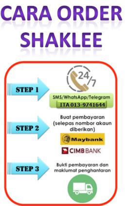 Cara Order Shaklee 1