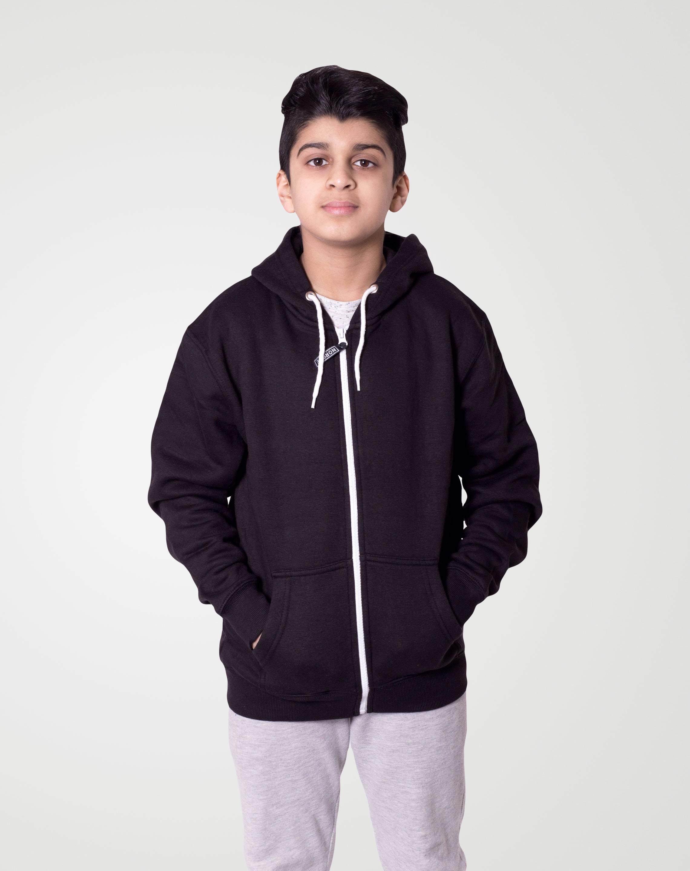 Noroze Boys Hoodie Kids Contrast Fleece Sweatshirt Pullover Top