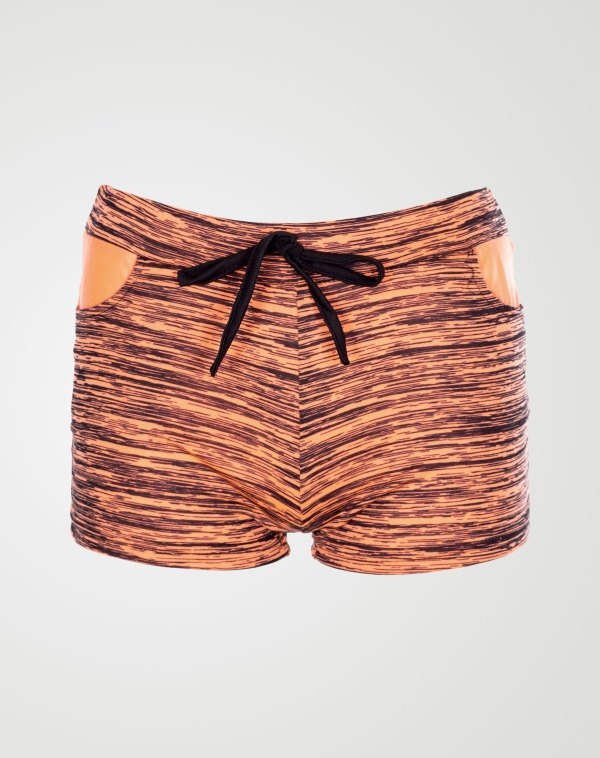 Image 1 of Girls Blurry Print Hot Pants Shorts of color Coral from Noroze