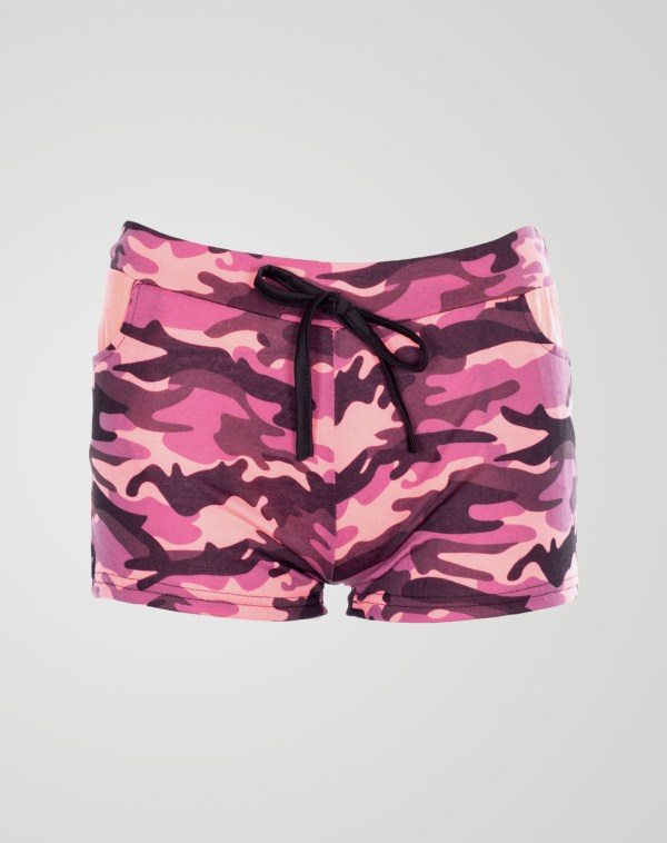 Image 1 of Girls Camo Print Hot Pants Shorts of color Pink from Noroze